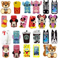 Kids Cute Cartoon 3d silicone case for iphone 6