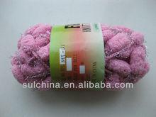 de la mano de hilo de tejer hilados de pom pom con lurex