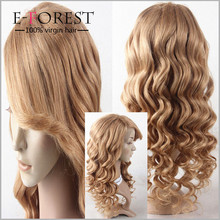Free Shipping long blond human hair wig 100% Brazilian Virgin Hair Full Lace Human Hair Wig ,Glueless Lace Front Wig