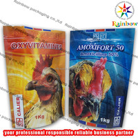 1kg Stand up bags with ziplock for chicken medicine/drug