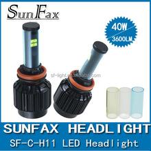 2015 NEW Design H8/H9/H10/H11 40 W 3600lm C-R-E-E led headlight fog lamp