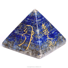 Chakra Lapis Pyramid With Point:Wholesale chakra healing reiki Pyramid for metaphysical use