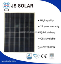 Polycrystalline silicon high power efficiency 195W solar panel