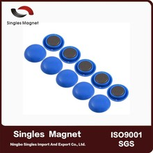 home and office application round shape Solid Colored magnet button for whiteboard magnetic push pin