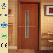 2015 AFOL promotion good sale interior wood toilet pvc door, pvc wooden door