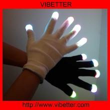 Led Flashing Light Fabric Gloves Wholesale China