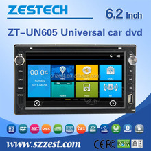 6.2inch double din car dvd gps For Nissan Universal touch screen 2 din auto car audio radio player WITH DVR OBD DTV