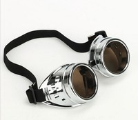Free Shipping Vintage Cyber glasses Goggles Steampunk Welding Goth Gothic biker rave Cosplay aviator GOGGLES Rustic 4 colors