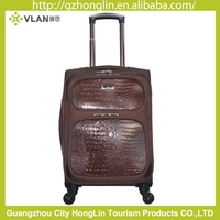 2015 Korean style functional eva trolley case luggage bags with leather for gift