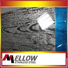 Mellow Etched Wooden Grain Stainless Steel Sheet For Wall Covering