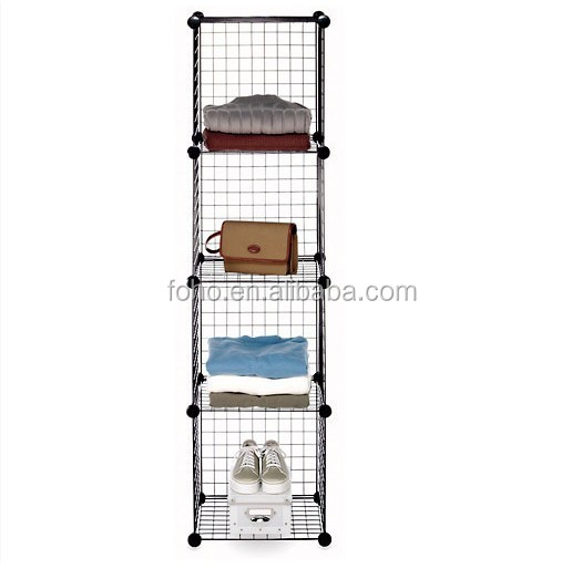 amazing storage rack metal grid shelf modular for storage. Black Bedroom Furniture Sets. Home Design Ideas