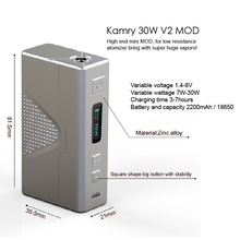 accpet paypal 30W box mod Kamry 30W V2 best e cigarette on the market