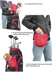 Helix green wooden golf tee bag