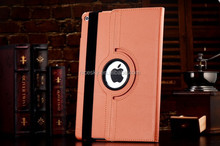 High Quality 360 Degree Rotating Stand Leather Case Smart Cover For iPad 5 ipad air Case new arrival stock