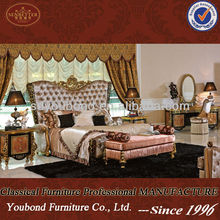 0061 2014 European new design expensive solid classical bedroom wooden high quality furniture