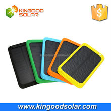 Pocket style 5v 1a single usb universal colorful 5000mah solar mobile charger circuit for phones