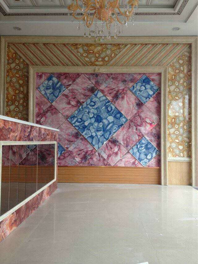 PVC 벽 장식 패널 장식 대리석 질감 UV 보드- 판매를위한 1