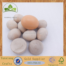 mini wood natural painted egg