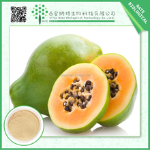 Light yellow powder papaya fruit extract powder 5% Papain for nutritional supplement