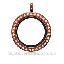 gran 30mm magnético redondo de vidrio flotante locket encanto colgantes