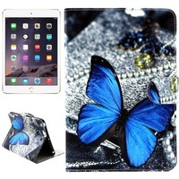 Multi patterns Leather Wallet case for ipad mini 3 case with holder