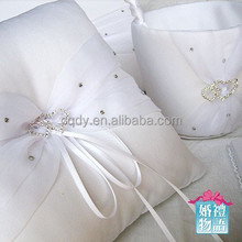 2015 Wedding favors ring pillow elegant ring pillow ring bearer pillow love heart style rhinestone wedding decoration