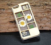 Wood pressed flower phone case floral cover skin for iphone 4/4s/5/5s/5c/6/6plus