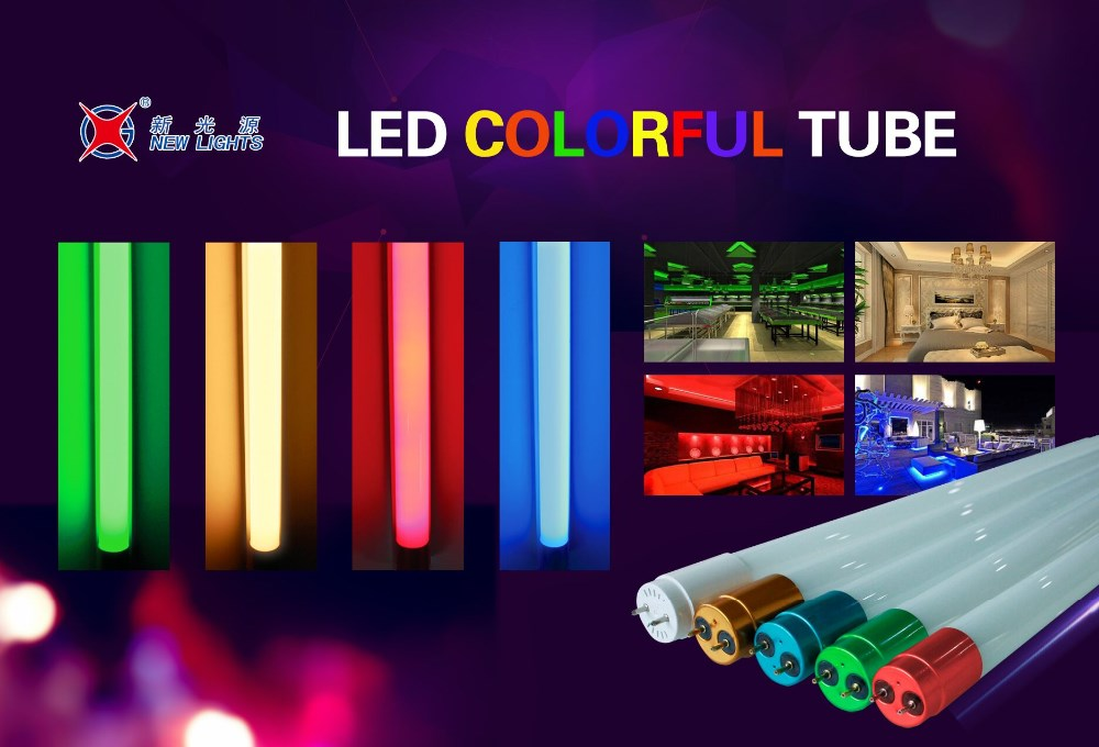 t8 18 w rgb couleur led tube 1200mm rouge vert bleu jaune led light tube lumi res de tube de led. Black Bedroom Furniture Sets. Home Design Ideas