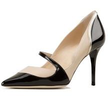 2015 maduro italiano moda sexy estilete sapatos de salto alto em couro genuíno design mulheres sapatasdevestido