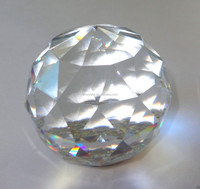 crystal paperweight dome faceted prism clear ball,black base MH-SJ048