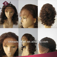 Heat Resistant Synthetic Hair Brown wet and wavy cheap lace front wig