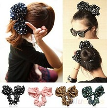 Lovely big rabbit ears bow headbands headwear hair ribbon hair ponytail Korean style women's accessories OH0046