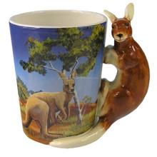 Animal Shaped Handle Mug Kangaroo