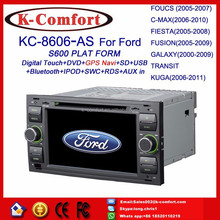 K-comfort touch screen for ford c-max navigation multimedia with SWC GPS + Radio + RDS BT+ SD + USB CD/DVD IPOD Aux-in