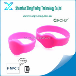Small size Children tracking rfid wristband silicon 125khz/ 13.56mhz/ 860-960mhz