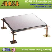 HPL laminate anti static anti-rust wear-ability shockproof metal panel raise floor