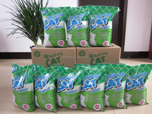 pure bentonite clay cat litter/ cat sand without any toxic chemical additives