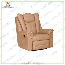 WorkWell most popular pu leather high back recliner sofa Kw-Fu29