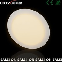 CE approved warm/natural/pure white round 3w to 24w led panel light