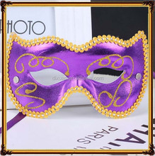 Blue and purple pink half a face mask with flat lace The princess party masks