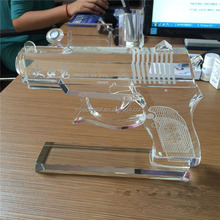 crystal gun model for wedding and business gift