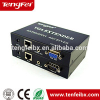Competitive price!!! Best quality 0-300m 2port VGA extender to UTP cable with audio