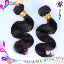 Noir femmes de cheveux humains weave double trame cheveux dominicaine produits