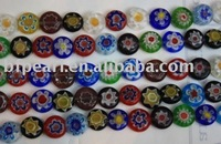 """16"""" 6mm multi-colors coin shape loose glass beads strands"""