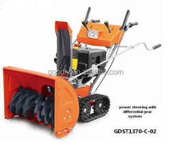 11 hp power steering snow thrower with track