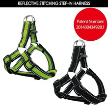 Air Mesh Step-In Dog Harness with Reflective Stitching