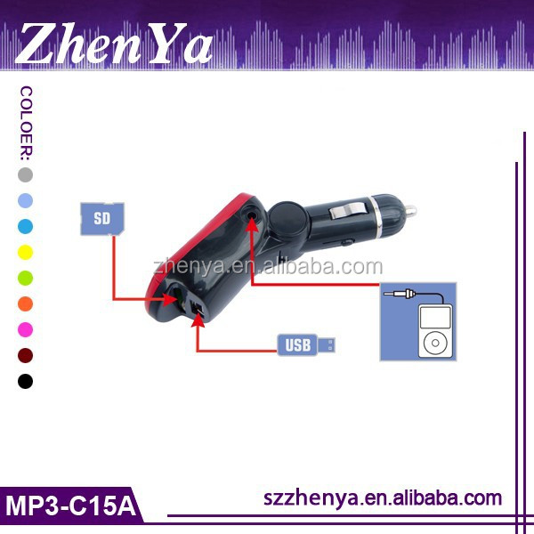 Good Quality Car Mp3 With LCD/LED display Usb Port Ft Card Fm Transmitter