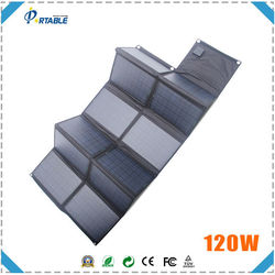 120W portable solar charger for car battery