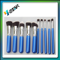 10 pcs makeup brush set with blue pouch/Functional cosmetic brushes/make up brushes