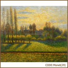 Monet masterpiece abstract oil painting trees,Sunlight Under the Poplars